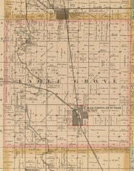 Eagle Grove, Iowa 1885 Old Town Map Custom Print - Wright Co.