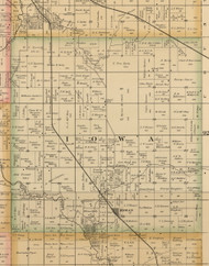 Iowa, Iowa 1885 Old Town Map Custom Print - Wright Co.