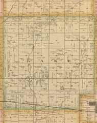 Lake, Iowa 1885 Old Town Map Custom Print - Wright Co.