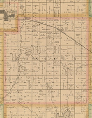 Lincoln, Iowa 1885 Old Town Map Custom Print - Wright Co.
