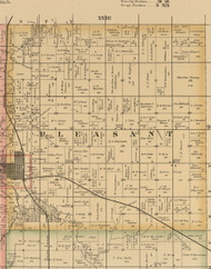 Pleasant, Iowa 1885 Old Town Map Custom Print - Wright Co.