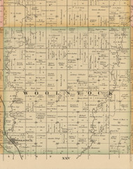 Woolstock, Iowa 1885 Old Town Map Custom Print - Wright Co.