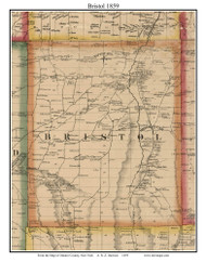 Bristol, New York 1859 Old Town Map Custom Print - Ontario Co.