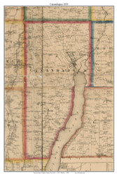 Canandaigua, New York 1859 Old Town Map Custom Print - Ontario Co.