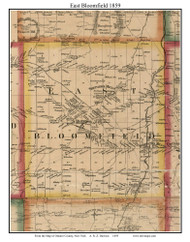 East Bloomfield, New York 1859 Old Town Map Custom Print - Ontario Co.