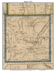 Naples, New York 1859 Old Town Map Custom Print - Ontario Co.