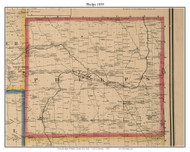 Phelps, New York 1859 Old Town Map Custom Print - Ontario Co.