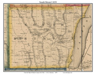 South Bristol, New York 1859 Old Town Map Custom Print - Ontario Co.