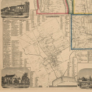 Canandiagua City, New York 1859 Old Town Map Custom Print - Ontario Co.