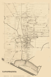 Canandiagua City Special, New York 1859 Old Town Map Custom Print - Ontario Co.