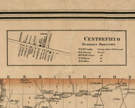 Centrefield Village, New York 1859 Old Town Map Custom Print - Ontario Co.