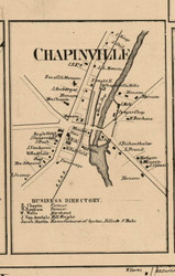 Chapinville, New York 1859 Old Town Map Custom Print - Ontario Co.
