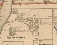 Clifton Springs Village, New York 1859 Old Town Map Custom Print - Ontario Co.