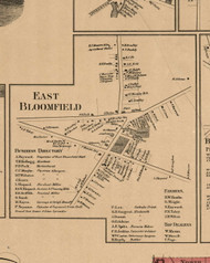 East Bloomfield Village, New York 1859 Old Town Map Custom Print - Ontario Co.