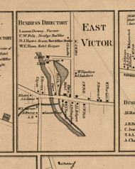 East Victor Village, New York 1859 Old Town Map Custom Print - Ontario Co.