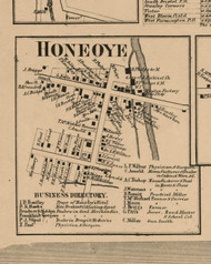 Honeoye Village, New York 1859 Old Town Map Custom Print - Ontario Co.