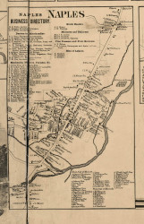 Naples Village, New York 1859 Old Town Map Custom Print - Ontario Co.
