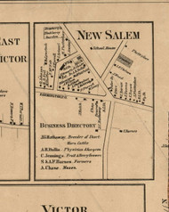 New Salem Village, New York 1859 Old Town Map Custom Print - Ontario Co.