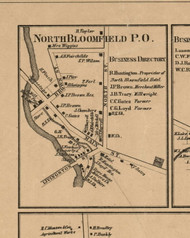 North Bloomfield Village, New York 1859 Old Town Map Custom Print - Ontario Co.