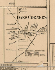 Oaks Corners Village, New York 1859 Old Town Map Custom Print - Ontario Co.