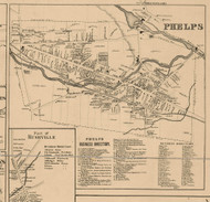 Phelps Village, New York 1859 Old Town Map Custom Print - Ontario Co.