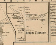 Reeds Corners Village, New York 1859 Old Town Map Custom Print - Ontario Co.