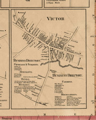 Victor Village, New York 1859 Old Town Map Custom Print - Ontario Co.