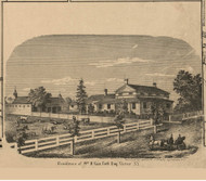 Van Cott Residence, Victor Village, New York 1859 Old Town Map Custom Print - Ontario Co.
