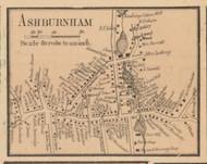 Ashburnham Village, Massachusetts 1857 Old Town Map Custom Print - Worcester Co.