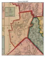Athol, Massachusetts 1857 Old Town Map Custom Print - Worcester Co.