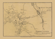 Barre Center, Massachusetts 1857 Old Town Map Custom Print - Worcester Co.