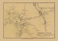Barre Center, Massachusetts 1857 Old Town Map Custom Print - Worcester Co.
