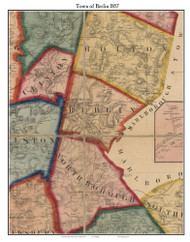 Berlin, Massachusetts 1857 Old Town Map Custom Print - Worcester Co.