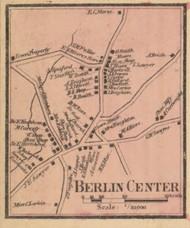 Berlin Center, Massachusetts 1857 Old Town Map Custom Print - Worcester Co.