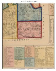 Blackstone, Massachusetts 1857 Old Town Map Custom Print - Worcester Co.