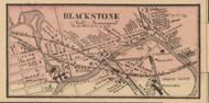 Blackstone Village, Massachusetts 1857 Old Town Map Custom Print - Worcester Co.