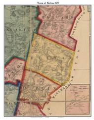 Bolton, Massachusetts 1857 Old Town Map Custom Print - Worcester Co.