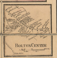 Bolton Center, Massachusetts 1857 Old Town Map Custom Print - Worcester Co.