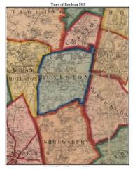 Boylston, Massachusetts 1857 Old Town Map Custom Print - Worcester Co.