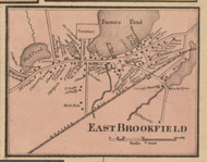 East Brookfield, Massachusetts 1857 Old Town Map Custom Print - Worcester Co.