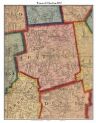 Charlton, Massachusetts 1857 Old Town Map Custom Print - Worcester Co.
