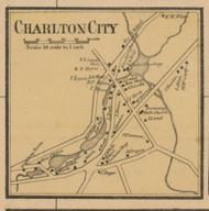 Charlton City, Massachusetts 1857 Old Town Map Custom Print - Worcester Co.