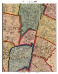 Clinton, Massachusetts 1857 Old Town Map Custom Print - Worcester Co.