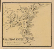 Grafton Center, Massachusetts 1857 Old Town Map Custom Print - Worcester Co.