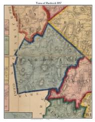 Hardwick, Massachusetts 1857 Old Town Map Custom Print - Worcester Co.