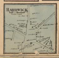 Hardwick Center, Massachusetts 1857 Old Town Map Custom Print - Worcester Co.