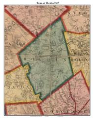 Holden, Massachusetts 1857 Old Town Map Custom Print - Worcester Co.