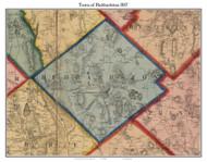 Hubbardston, Massachusetts 1857 Old Town Map Custom Print - Worcester Co.