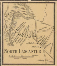 North Lancaster, Massachusetts 1857 Old Town Map Custom Print - Worcester Co.