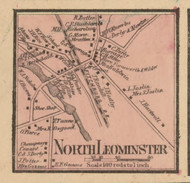 North Leominster, Massachusetts 1857 Old Town Map Custom Print - Worcester Co.